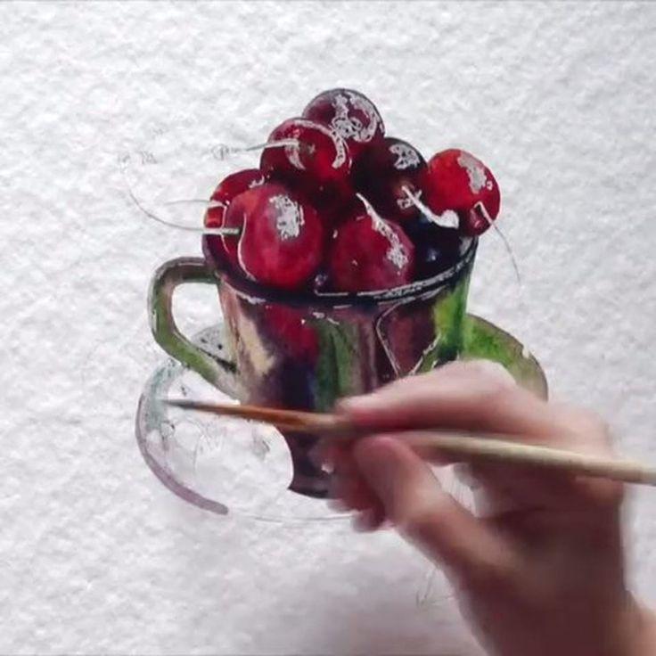 "6,485 Likes, 43 Comments - Watercolor illustrations (@watercolor.illustrations) on Instagram: "" Watercolorist: @luybov_titova #waterblog #акварель #aquarelle #drawing #art #artist #artwork…"""
