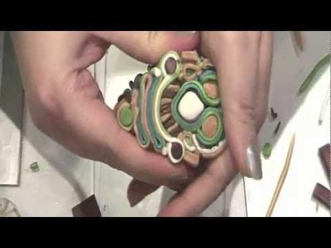 ▶ Tutorial | Polymer Clay | Murrina Soutache Caleidoscope | DIY Millefiori Cane - YouTube