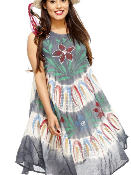 Feel free this summer in these cool, flowing dresses. They are carefully made using various techniques including batik and tie-dye.