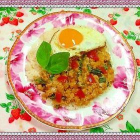 ガパオライス☆おうちで簡単タイ料理♬ by kyonmi [クックパッド] 簡単おいしいみんなのレシピが247万品