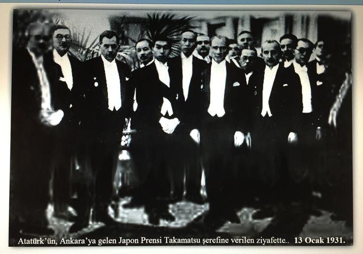 Atatürk Japon prensi Takamatsu ile 13.01.1931