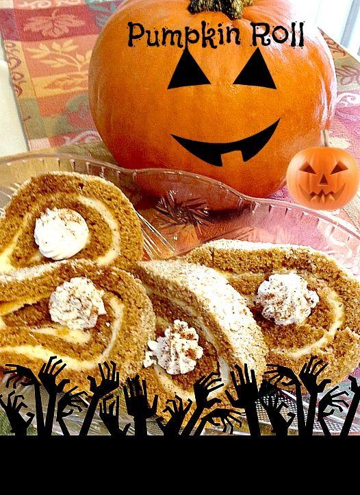 #Halloween #Pumpkin Roll Recipe - #Printable – Mom 'N Daughter Savings