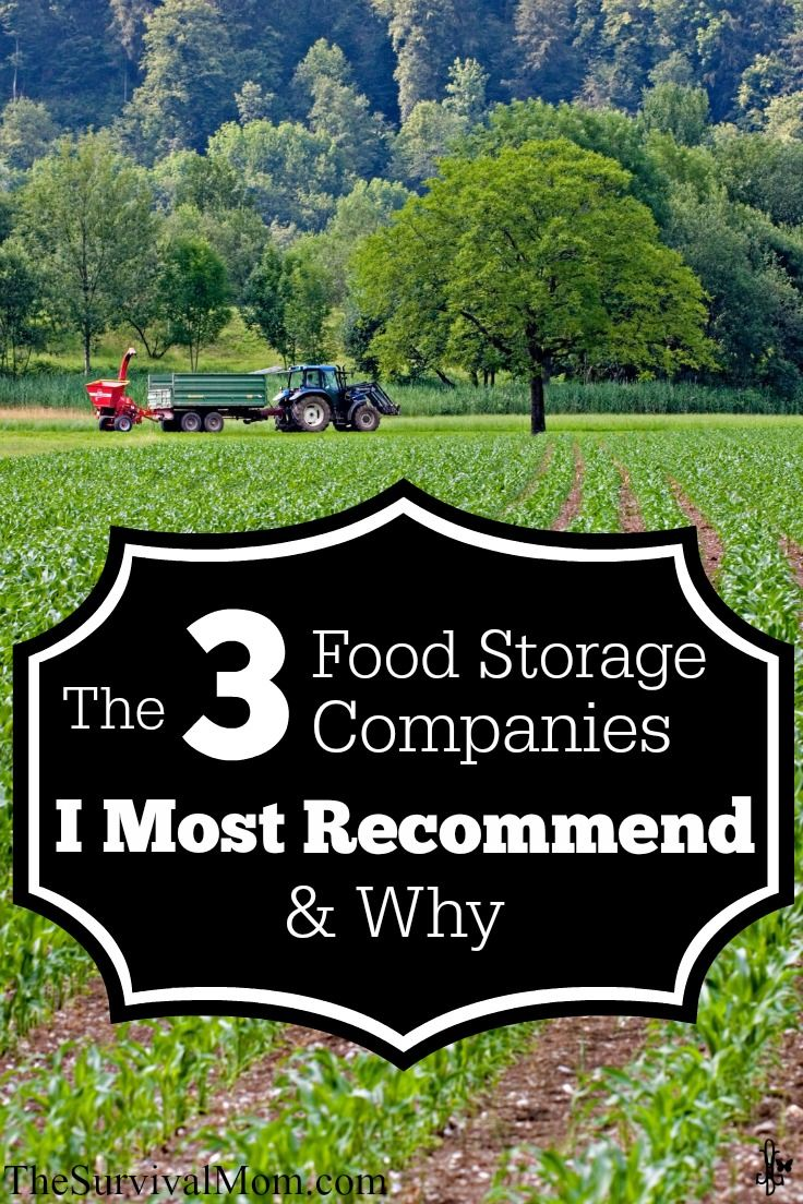 The 3 Food Storage Companies I Recommend and Why -- Important Update.  www.TheSurvivalMom.com