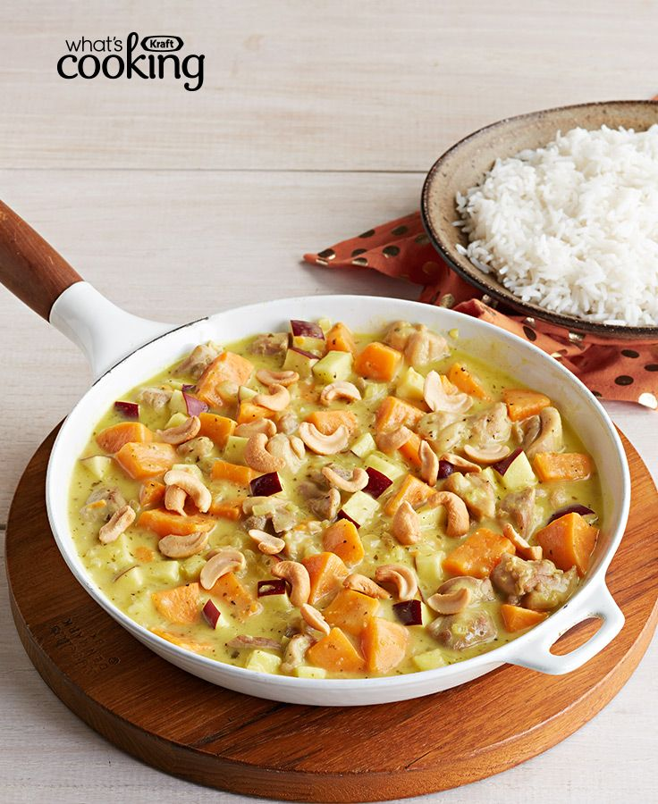 294 best chicken recipes images on pinterest kraft food and family fall creamy chicken with sweet potatoes and apples grated gingerroot curry powder and coconut milk combine to make a luscious forumfinder Image collections
