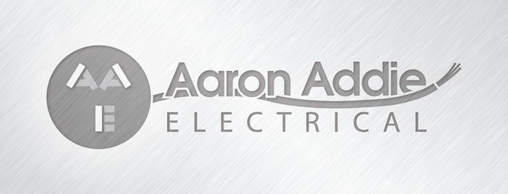Aaron Addie Electrical | Logo Design by Corinne Jade