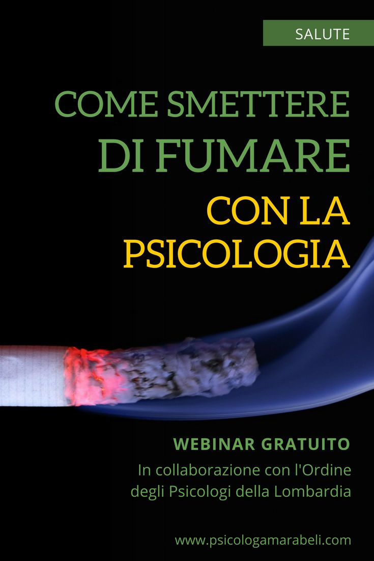 Webinar gratuito su come smettere di fumare con la psicologia. Link diretto al seminario condotto insieme al dott. Boffi