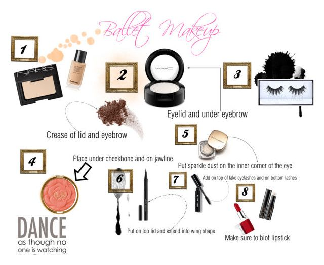"""""""Ballet Makeup"""" by chandler-tiao ❤ liked on Polyvore featuring beauty, NARS Cosmetics, MAC Cosmetics, Bare Escentuals, Huda Beauty, Milani, Dolce&Gabbana, Kevyn Aucoin, Bobbi Brown Cosmetics and Anastasia Beverly Hills"""