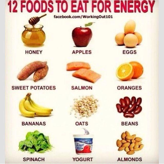 Alimentos para tener energía #deporvillage #food #sport #energy #performance