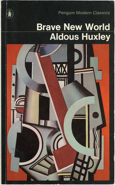 Huxley's Dystopian world of children raised in a collective, programmed to be sexual with strangers, while shunning family, and drugged to avoid the realities of life, feels all too familiar. Having lived through four decades of societal change in this direction, Huxley's words are slightly haunting in his prophecy.    Brave New World by Aldous Huxley by Penguin Books UK, via Flickr