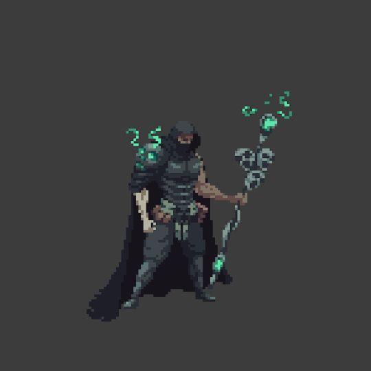 Necromancer cast animation for The Iron Oath #pixelart