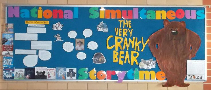 The very cranky bear  - National Simultaneous Storytime NSS - Library Information Week (library display) | Capturing the fun in my library