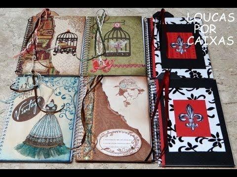 DIY   Tutorial - Caderno Decorado Vintage - Customized Notebook - YouTube