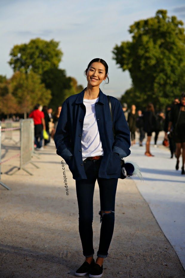 #LiuWen keeping it on the DL #offduty in Paris.