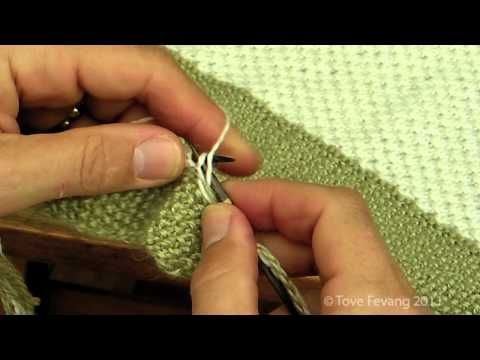 Instruksjonsvideo, strikk hullmønster, perlestrikk og fargeskift på omgangen — Tove Fevangs blog