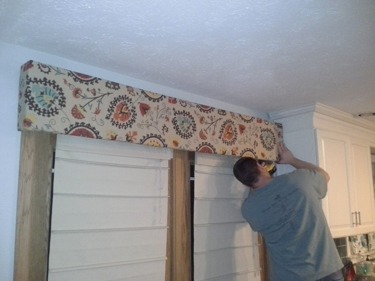 Diy With The Joneses Diy Fabric Cornice Board Over French