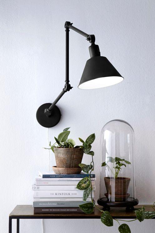Ellos Home Svart Vegglampe OXFORD
