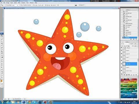 Illustrating drawing painting - cartoon starfish Jak namalować rozgwiazdę