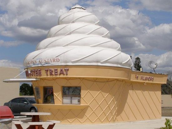 "A completely stocked one in Zephyrhills, Florida, is on the market for a mere $475,000. Or, if you're on a budget but good with tools, the same listing also offers ""A Separate Dismantled Ice Cream Cone Building"" at the bargain price of $40,000."