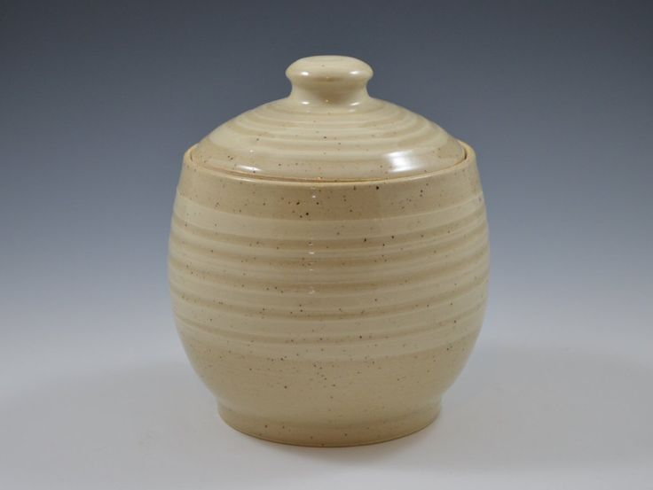 Cookie jar, Lidded Jar, Salt Jar, canister, coffee jar, Ready to ship by GershmanArt on Etsy https://www.etsy.com/ca/listing/461842318/cookie-jar-lidded-jar-salt-jar-canister