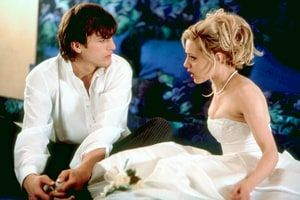30 Most Romantic Movies of All Time. @usmagazine via @topupyourtrip In Pic: In 2003,  Ashton Kutcher  and  Brittany Murphy  played a young married couple who realize they may be in over their heads while honeymooning in Europe.