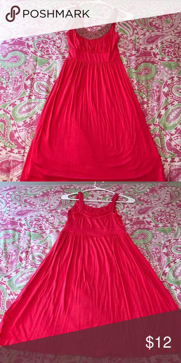 Beaded coral sundress Beaded coral sundress Dresses