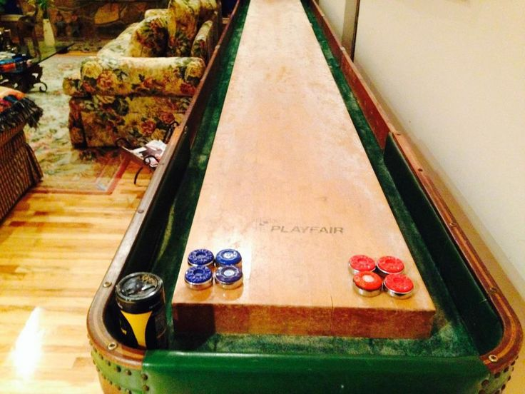 Antique Shuffleboard Table By American Shuffleboard Company 22 Feet | Shuffleboard  Table, Men Cave And Basements