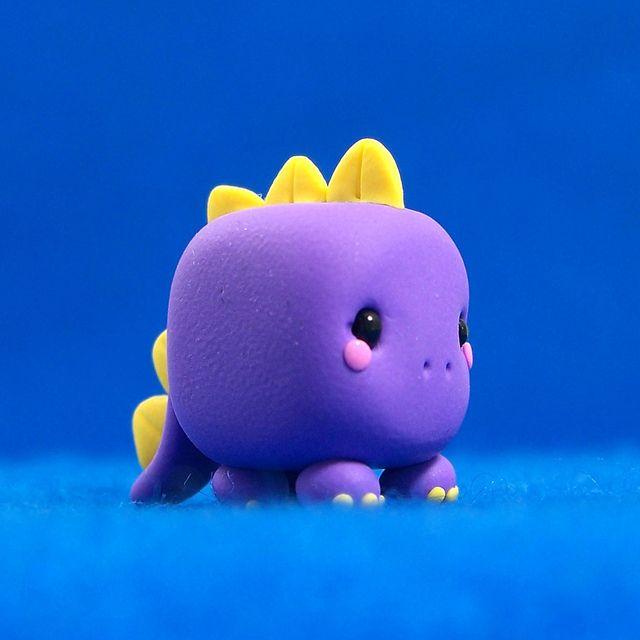 Kawaii Dinosaur Cube by Jenn and Tony Bot, via Flickr