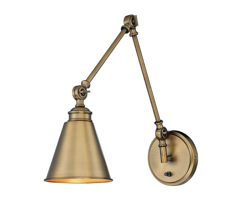 reed swing arm sconce wall sconce