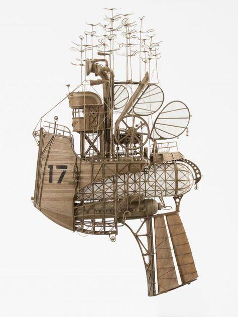 空想捗る完成度。オランダ人芸術家がダンボールで作った、空飛ぶ乗り物のアート作品 写真10枚