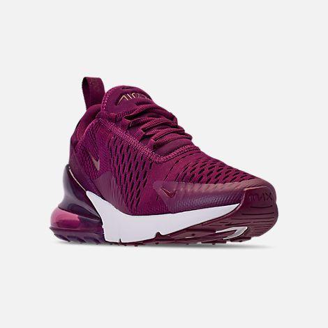 promo code 38668 b81bd Three Quarter view of Women s Nike Air Max 270 Casual Shoes. Three Quarter  view of Women s Nike Air Max 270 Casual Shoes in Bordeaux Vintage Wine
