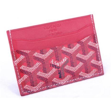 Grade Quality Goyard Card Holder 020090 Red