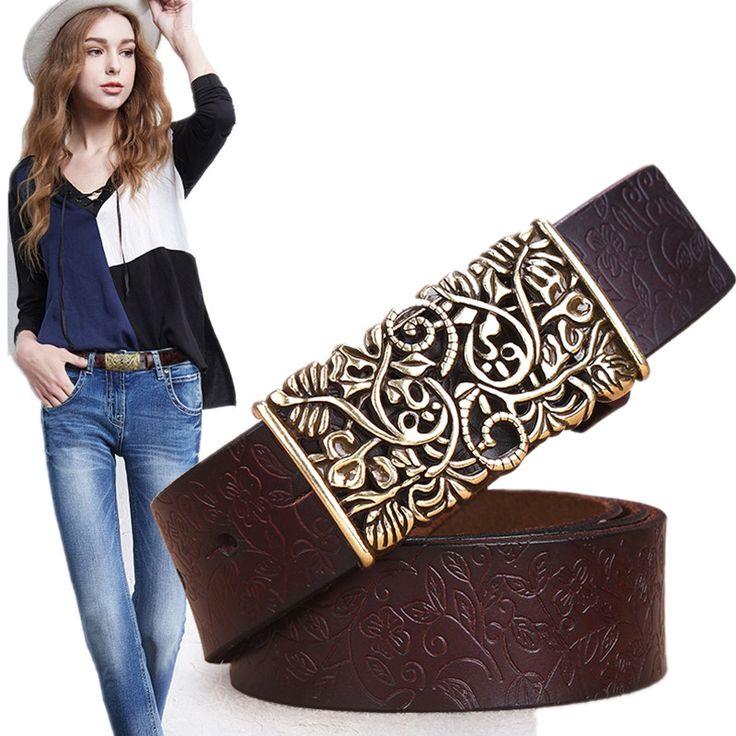 Купить товар2016 подлинные коускин кожаные ремни для женщин резные дизайн ретро женщины ремень Cintos Ceinture женский высокое качество ремни в категории Пояса и ремнина AliExpress.                 Длина ленты без пряжки                                                Мы используем на