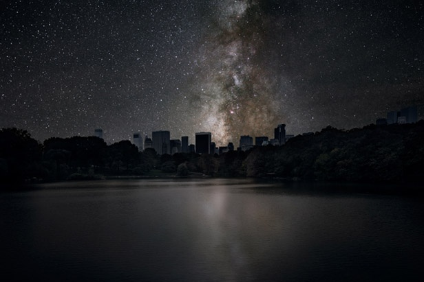 #Darkened #Cities by Thierry Cohen. The series of #photos he's been working on since 2010, represent a rather post-apocalyptic scenario with bright night skies over cities, although without usual portion of ruins and total devastation.