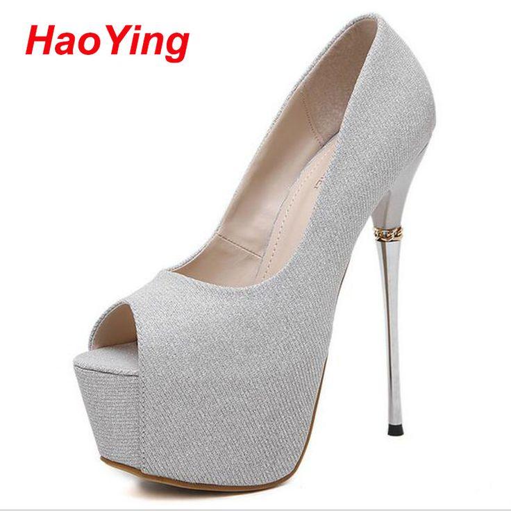 wedding shoes sapato feminino salto alto ladies heels shoes pumps sexy peep toe high heels 16cm summer shoes silver heels D455 Nail That Deal http://nailthatdeal.com/products/wedding-shoes-sapato-feminino-salto-alto-ladies-heels-shoes-pumps-sexy-peep-toe-high-heels-16cm-summer-shoes-silver-heels-d455/ #shopping #nailthatdeal