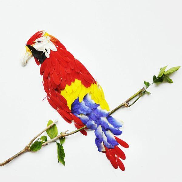 Bird Art Made From Flower Petals