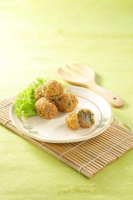 bola-bola ikan ayam goreng panir