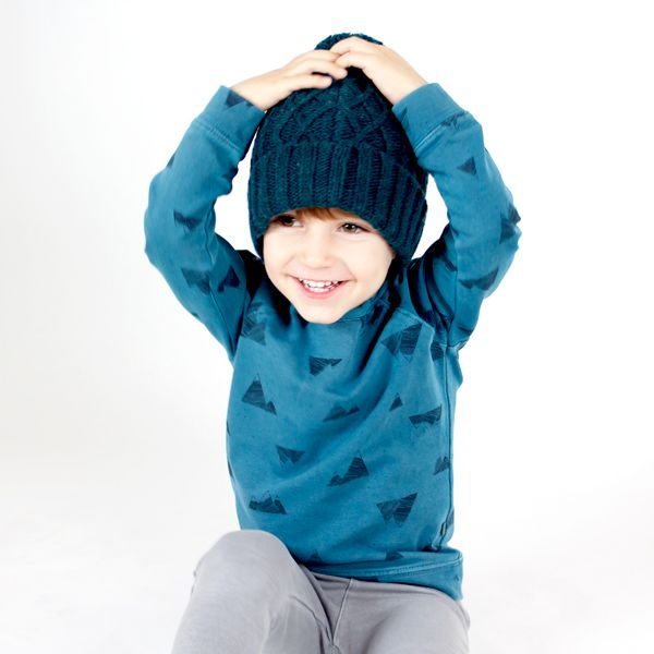 Mountains petrol blue Sweatshirt - lötiekids winter'15 collection