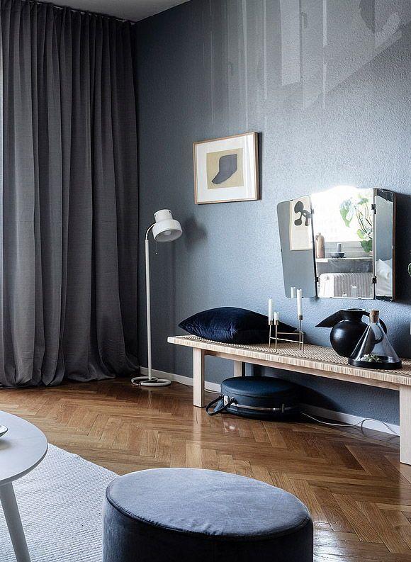 Living Room : Home With Petrol Blue Walls Via Coco Lapine Design Blog