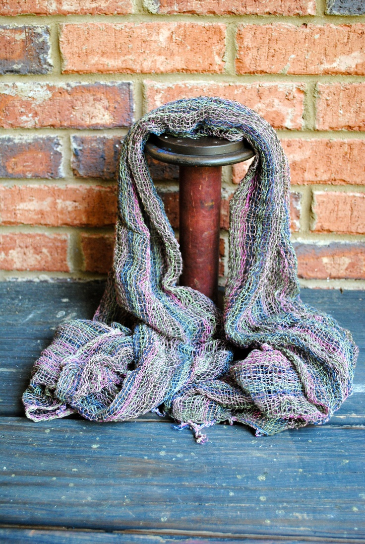 Wrap up in this multicolor handmade scarf from Thailand.