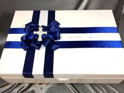 GREEK BAPTISM KEEPSAKE BOX