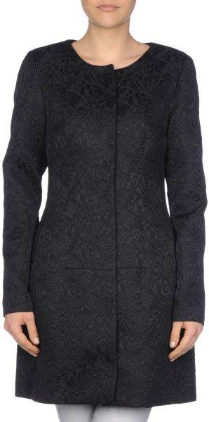 Pf Paola Frani Full-Length Jacket in Black