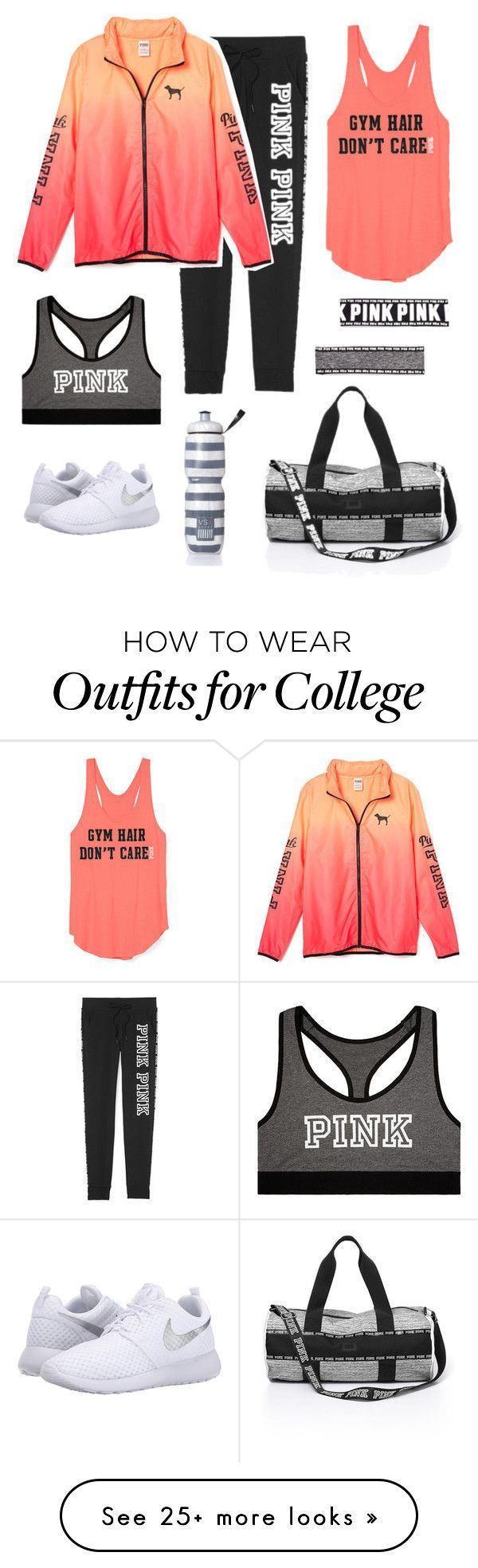 Gym by aadrianamariee on Polyvore featuring Victorias Secret and NIKE