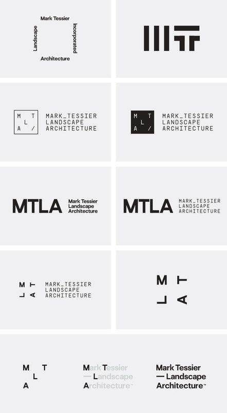 Corporate Design für den Landschaftsarchitekten Mark Tessier Landscape Artchitecture von Mash Creative und Type Hype.