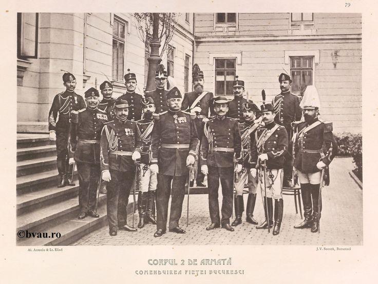 """Corpul 2 de Armată. Comenduirea Pieţei Bucuresci, 1902, Romania. Ilustrație din colecțiile Bibliotecii Județene """"V.A. Urechia"""" Galați. http://stone.bvau.ro:8282/greenstone/cgi-bin/library.cgi?e=d-01000-00---off-0fotograf--00-1----0-10-0---0---0direct-10---4-------0-1l--11-en-50---20-about---00-3-1-00-0-0-11-1-0utfZz-8-00&a=d&c=fotograf&cl=CL1.17&d=J080_697980"""