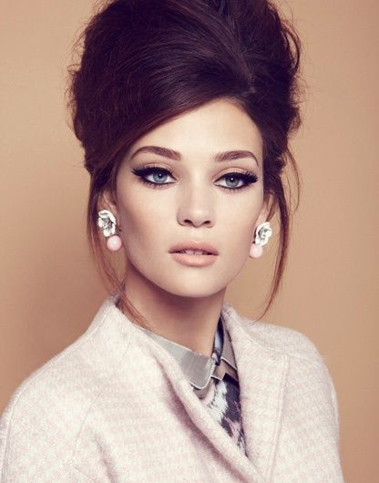 Retro Inspired Updo Hairstyle For more, visit > www.remyforyou.com