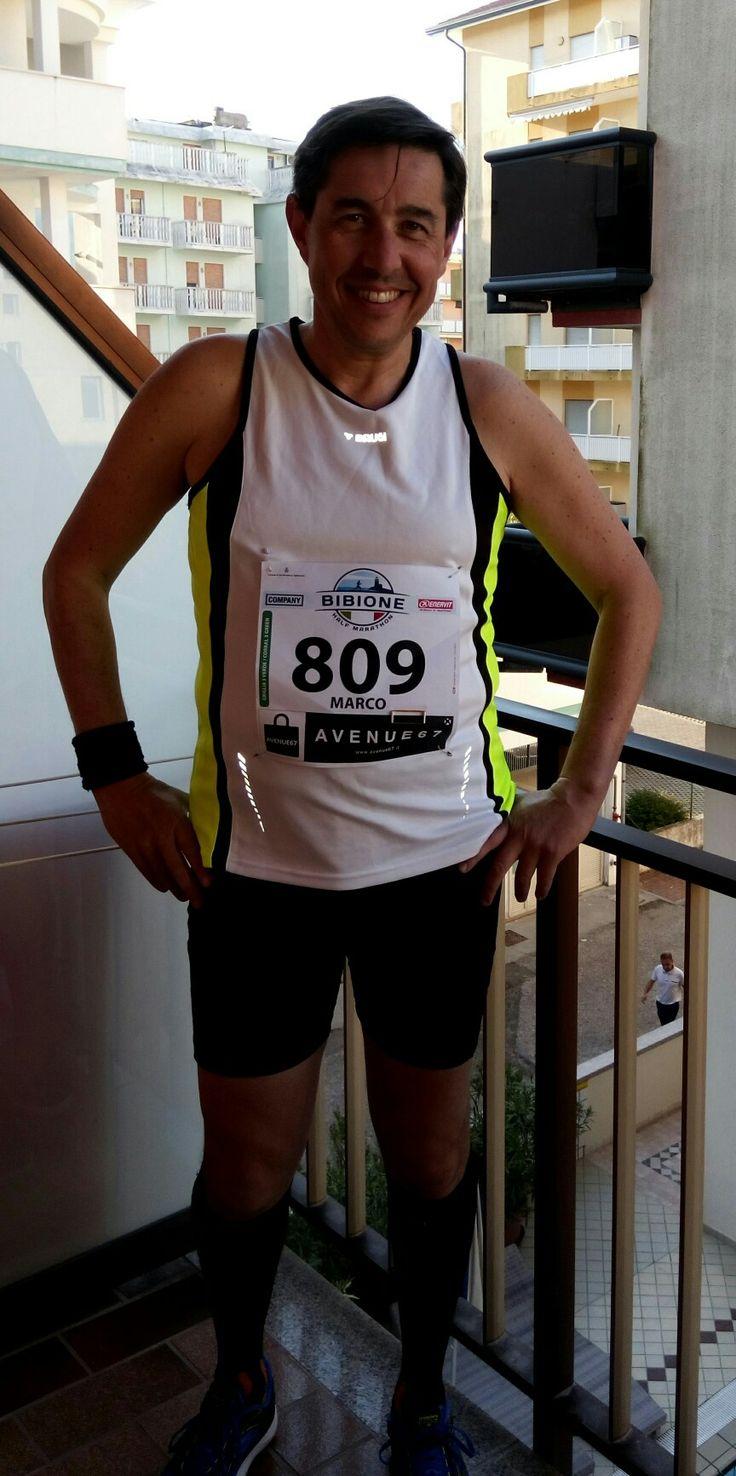 Bibione.  Pronti per la mezza maratona.