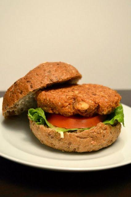 Lentil Walnut Veggie Burgers www.becauseilikechocolate.com