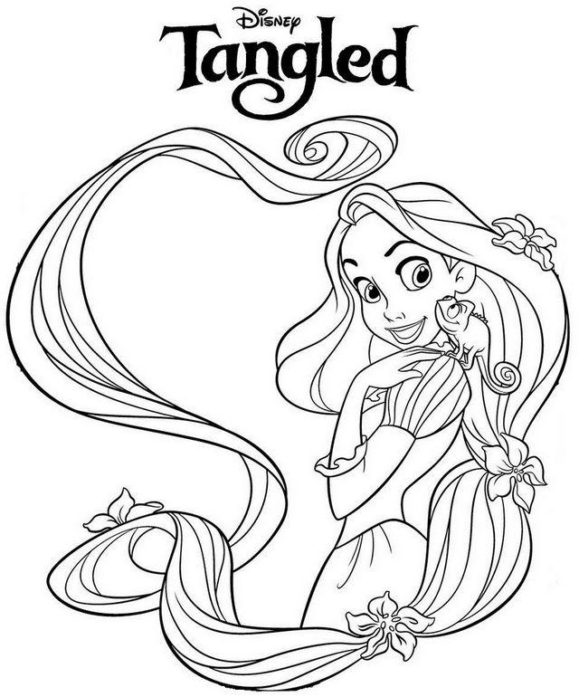 Beautiful Princess Rapunzel Coloring Page En 2020 Rapunzel