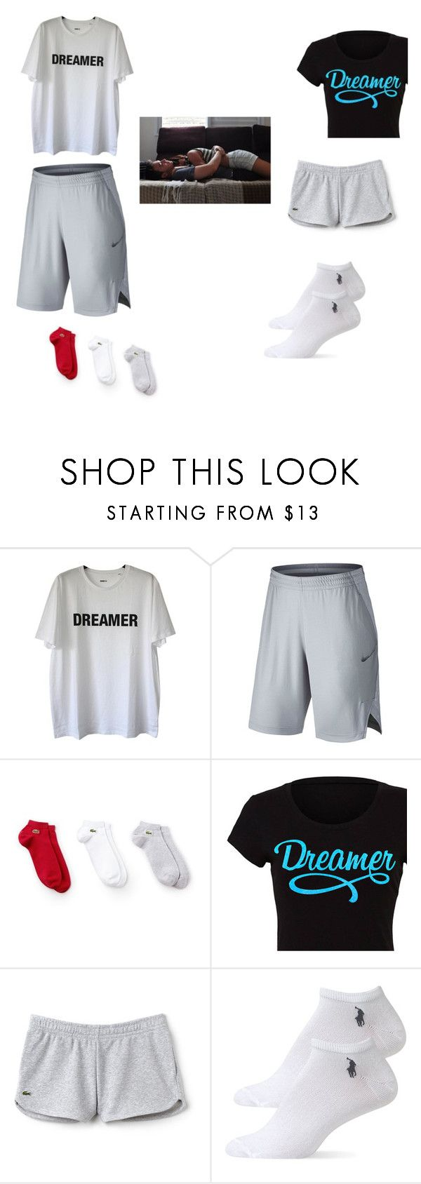"""Sleeping together"" by hzmwilcox ❤ liked on Polyvore featuring Yang Li, NIKE, Lacoste and Ralph Lauren"