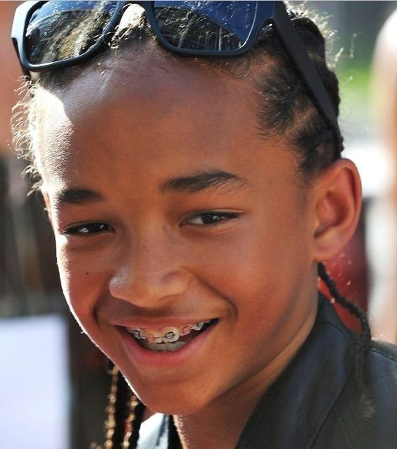 Jaden Smith wore braces early on in his career.